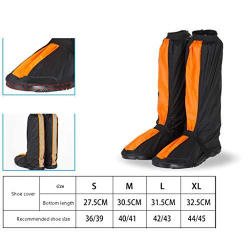 Duanguoyan Regenstiefel- Oxford-Tuch langes Rohr im Freien, das wasserdichte Schuhabdeckung reitet (Farbe : Orange, größe : M)