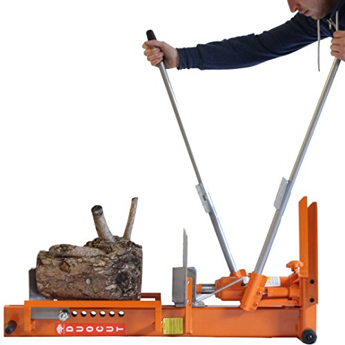 To operate, you can use the two handles to operate the log splitter in the horizontal position.
