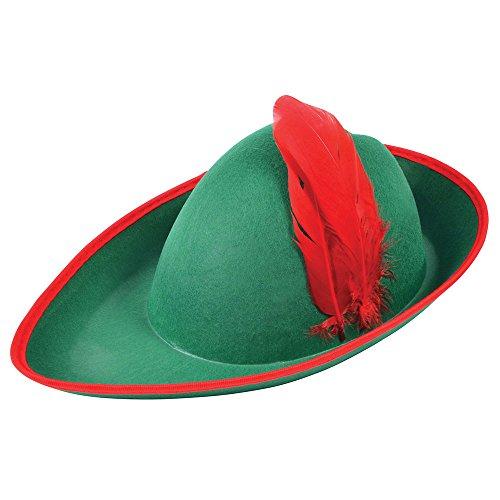 Bristol novità BH175Robin Hood cappello di feltro, verde, taglia unica