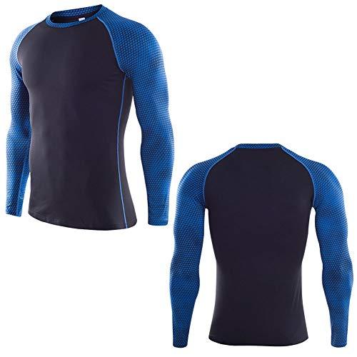 Mike Wodehous Männer Langarmshirt Dry Fit Shirts Kompression Base Layer T-Shirt Compression Shirts