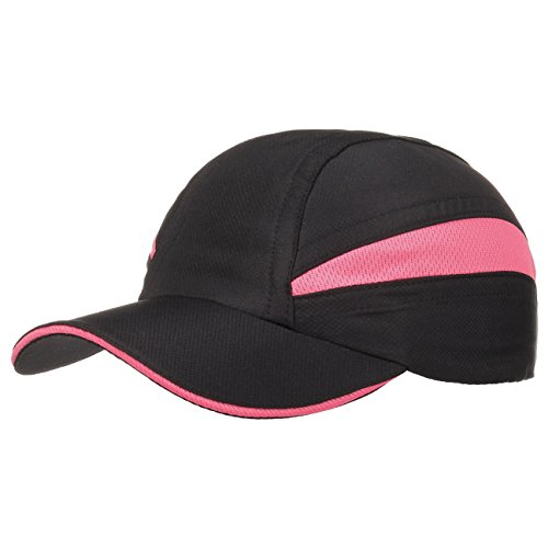 Casquette pour Femme Performer casquette de sport ouverture queue-de-cheval Noir