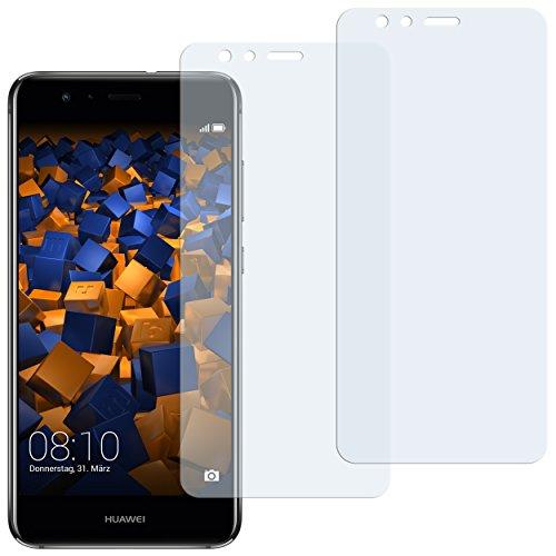 mumbi Schutzfolie kompatibel mit Huawei P10 lite Folie klar, Displayschutzfolie (2x)