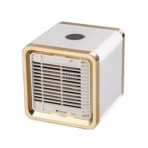 LHZHG Mini Air Luftkühler Tragbare USB-Air Cooler Mobile Fan AC-Einheit Persönliche Luftraum Luftbefeuchter Luftreiniger mit 3 Geschwindigkeiten,Gold -