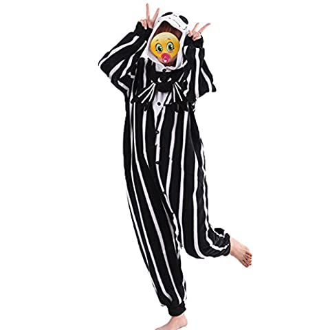 COHO Unisex Kostüm The Nightmare Before Christmas / Jack Skellington, als Pyjama oder Verkleidung verwendbar, für Erwachsene geeignet, Kigurumi-Stil Medium (162-171 (Kostüme Für Erwachsene Diy)
