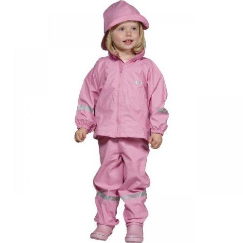 Ocean Kinderanzug Set Regenjacke und Hose in Rosa - Matschanzug Regenanzug für Mädchen (92/98)
