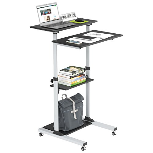 1home Compact Mobile Stand Up Computer Workstation