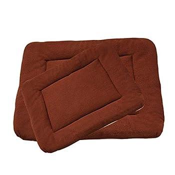 Maison BOBO Coussin pour Chien Epais Lit de Chien Lavable Matelas Chien Grande Taille Tapis de Chien Chat Confortable pour Niche Voiture(Marron,L)