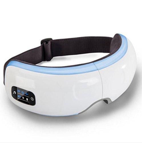 Jiyi&rainbowAuge Massagegerät Okular Massagegerät mit Heizung Funktion Musik Luftkompression für Migräne Anti dunkle Kreise
