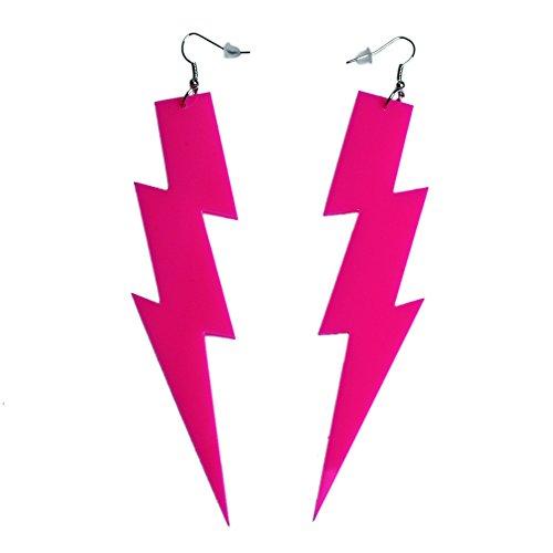 Lustig 1980er Kostüm Jahre - iLoveCos 80er Neon Party Kleid Zubehör Neon Ohrringe Party Kostüm 1980er Jahre Accessoires(se6)