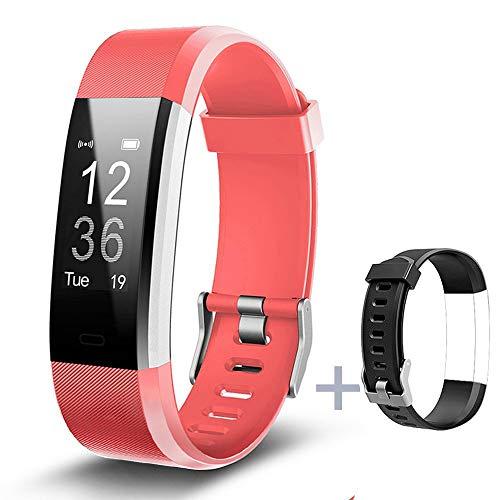 Lintelek Fitness Tracker Fitness Armband Fitness Uhr Schrittzähler Pulsmesser Herzfrequenzgerät Schlafmonitor IP67 Wasserdicht Fitness Tracker MEHRWEG