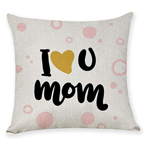 Kobay Geschenk für die Mutter Happy Mother\'s Day Home Decor Cushion Cover Pillowcase, 45cm x 45cm