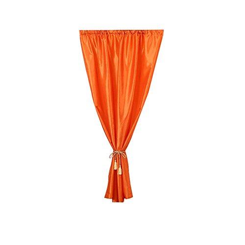 Huhuswwbin tende, tenda di puro colore solido raso tenda a pannello divisorio drappo soggiorno camera da letto decor–rosa orange