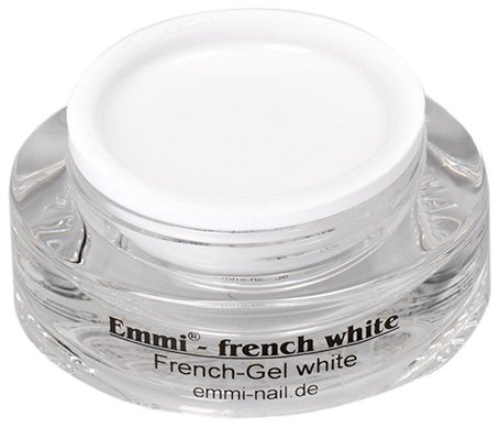 Emmi-Nail Studioline French-Gel white: UV-Gel für die Nagelmodellage in French-Optik, intensive Deckkraft, strahlendes Weiß, niedrigviskos, 15 ml -