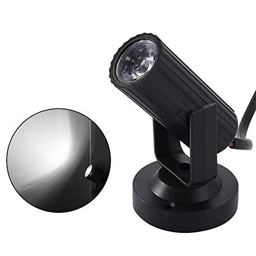 leegoal LED Strahl Pinspot Licht, LED tragbare Bühnenbeleuchtung Mini Bühnenscheinwerfer Projektionslampe Spiegelkugeln Magische Bühnenbeleuchtung mit Ständer für KTV DJ Disco