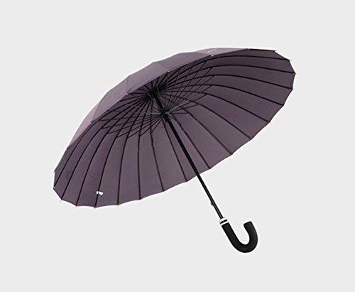 LYYUMBRELLAS ZHDC® Parapluie Adulte, Augmenter Coupe-Vent Grande Taille Manche Longue Protection Solaire Pluie Homme Parapluie Parasol (Couleur : #2)