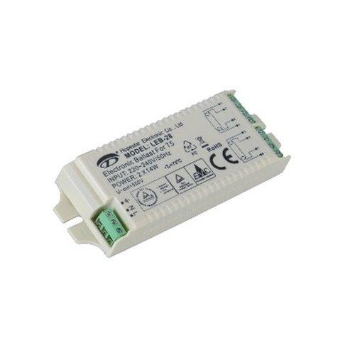 Elektronisches Vorschaltgerät LEB-28 für NEG Badspiegel Lumi-0600, Miroir Sensea und TCM 239558 (Tchibo) max. T5 2x14 Watt, 220-240V, 50/60Hz