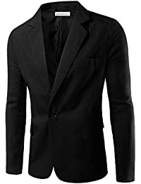 a3716629a Mens Casual Blazer Suit Jackets Slim Fit One Button Solid Suits Coat Casual  Jacket Tops