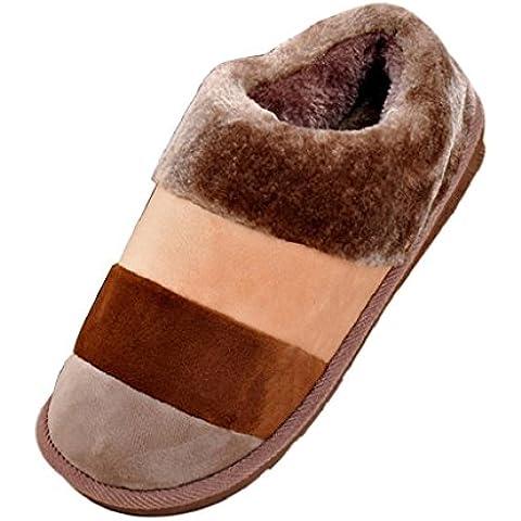 zapatillas hombre Sannysis zapatos de hombre (XL, Café)