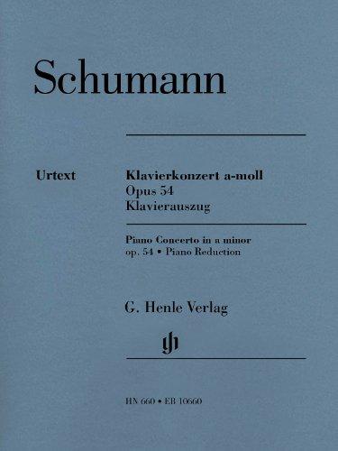 Klavierkonzert a-moll, op. 54. Klavierauszug: erste praktische Notenausgabe