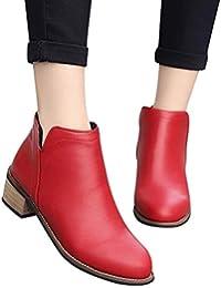Longra☛☛❤❤ Las Mujeres más Populares Boots Botines Scrub Thick Heel Lady Plat Boots