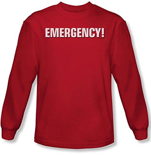 Emergency - Herren Logo Langarm-Shirt in rot Red