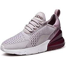 GJRRX Zapatillas Hombres Mujer Deporte Running Zapatos para Correr Gimnasio Sneakers Deportivas Padel Transpirables Casual 35
