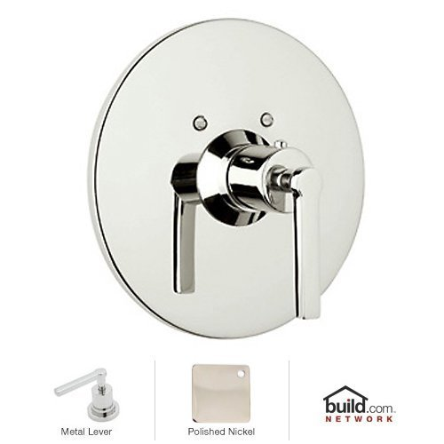 Rohl A4214LMPN Lombardia & Avanti Bath Trim Only for Concealed Thermostatic Valve with Metal Lever Handle & without Volume Control, Polished Nickel by Rohl -