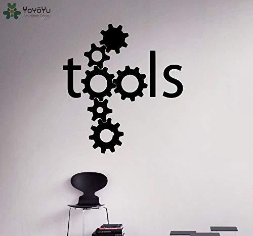 zhuziji Yoyoyu Wandtattoo Steam Gears Muster Wandaufkleber Zitate Werkzeug Kreative r Modernes Dekor Tapete Kunstwand Fashio 42x46 cm