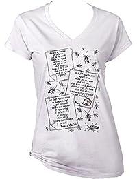 Teesquare1st Women's FRANZ KAFKA METAMORPHOSIS QUOTES White T-Shirt
