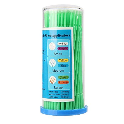 Beauty7 100 x 3.0 MM bâtons Micro Brosse Pinceau Applicateur Pour Dissolvant Extensions de Cils Dentaires Démaquillant