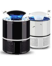 Nobel Electronic Led Mosquito Killer Lamps USB Powered UV LED Light Super Trap Mosquito Killer Machine for Home Insect Killer Mosquito Killer Eco-Friendly Electric Mosquito Trap Device (Black-White)(1 Piece)