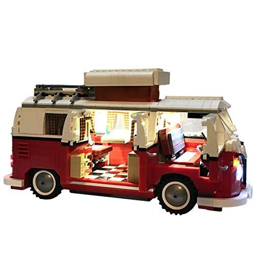 POXL Conjunto de Luces LED para ( Creator Expert-Furgoneta Volkswagen T1 ) Modelo - Kit de Led Juego de Luces Compatible con Lego Creator 10220 (Lego Set No Incluido)