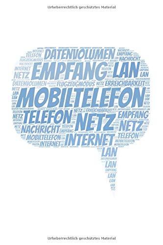 Mobiltelefon: A5 Notizblock mit 120 Seiten freien Seiten | Deine Telefonnummer und Kontakte notiert (Telefonnummer Kontakt Für Amazon)