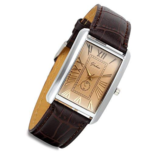 LANCARDO Herren Herren Damen Leder Armbanduhr Analog mit Leder Armband LCD009P094