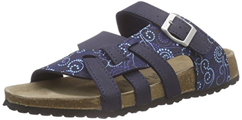 Softwaves Damen 274 147 Pantoletten Blau (Navy Multi 899) 40 EU