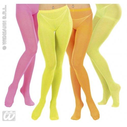 Unbekannt Widmann-AC0357-Strumpfhose, 40Denier, Neon, 4 Rosa Gelb Grün Orange