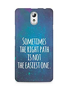 AMEZ the right path is not easy Back Cover For Lenovo Vibe P1M