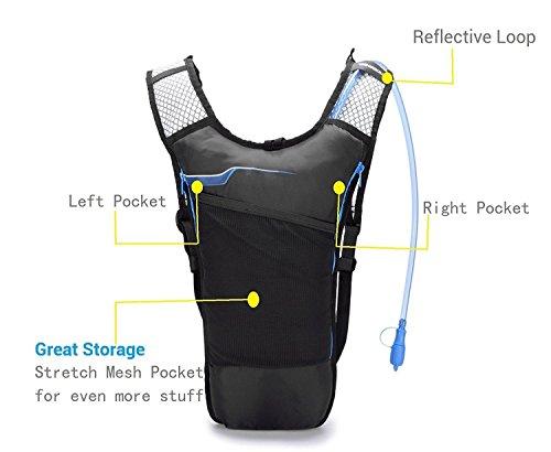 Trinkrucksack, Home-Neat Ultralight Laufrucksack, Fahrradrucksack 2L Trinkblase Pack , Ideal für Radsport, Laufen, Joggen Schwarz