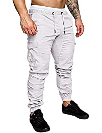 49a186c0be Amazon.it: Bianco - Pantaloni / Uomo: Abbigliamento
