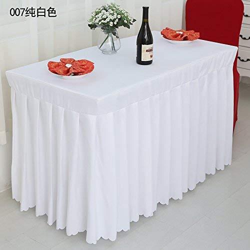 YHEGV Hauptdekoration Ausstellung Veranstaltung Tischdecke Tischdecke Tischdecke Tuch Tuch Büro Tischdecke Hochzeitsbankett polychromatische Kleider Check-in Kleider, Weiß, Maßgeschneiderte Größe -