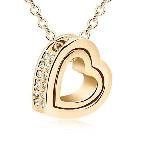QUADIVA-C-Damen-Halskette-Herzkette-Kette-mit-Anhnger-Herz-Farbe-gold-verziert-mit-funkelnden-Kristallen-von-Swarovski