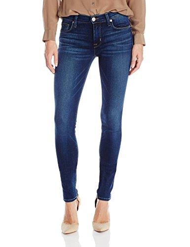 Hudson Jeans Women's Nico Midrise Supermodel Super Skinny Jean, Blue Gold, 32