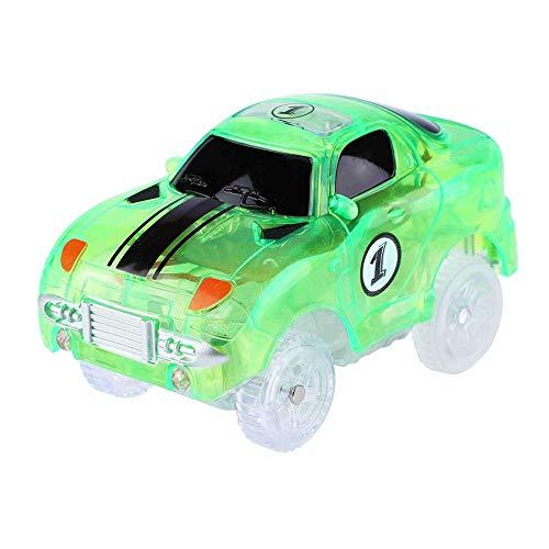 VGEBY1 Auto Spielzeug, Leuchtendes Elektrisches Schienenfahrzeug Rennfahrzeug Lernspiel für Kinder (Hellgrün)