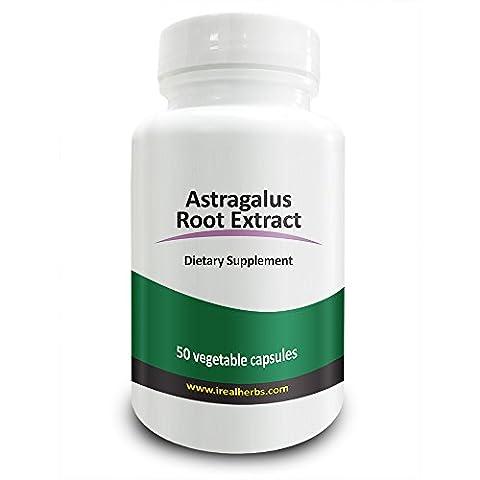 Real Herbs Astragalus Extrakt 4:1 700 mg - adaptogenischer & entzündungshemmender Agent, fördert Herz-Kreislauf-Gesundheit, stärkt die Immunabwehr - 50 vegetarische Kapseln