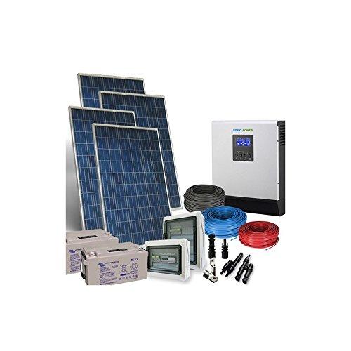 Kit Casa Solare PLUS 3Kw 48V Impianto Fotovoltaico con Accumulo Batterie AGM