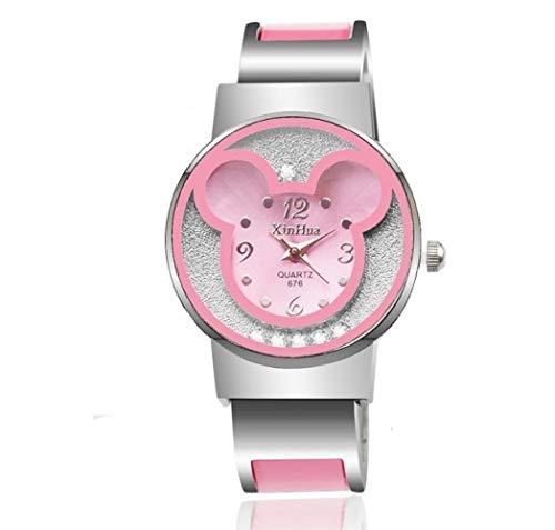 Geschenk für Kinder Kinderuhr Mädchen beobachten Reis Ratte Cartoon Armband Student Mädchen süße Uhr, B