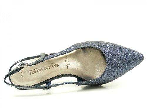 Tamaris Mary Jane Sandali Bianco 1-29400-26 117 in pelle bianca Blau