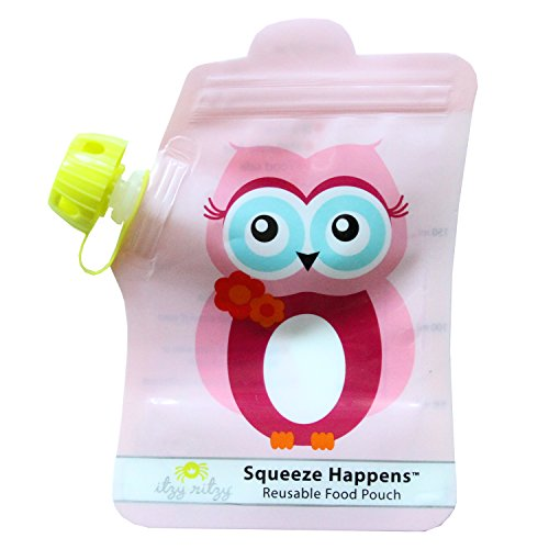 itzy-ritzy-squeeze-happens-reusable-food-pouches-pink-owl-6-ounce