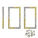 RETON 100 Piezas El Pasador de Bloqueo Respalda a los Sujetadores de Pasador de Metal con 10 Pasadores de Broche al Azar, sin Necesidad de Herramientas (50 de Oro y 50 de Níquel)