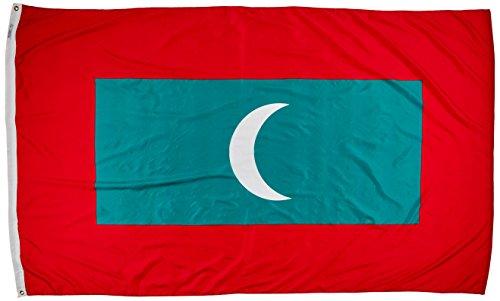 Annin flagmakers 195357Nylon solarguard nyl-glo Malediven Flagge, 5x 8'